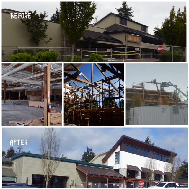 2003.4 - Before & After Collage - Harbor Plaza Facade, Gig Harbor