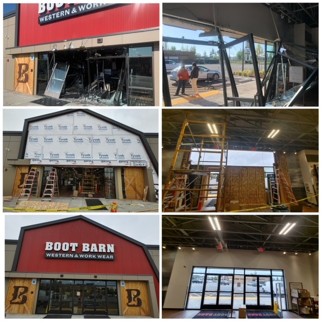 2111T - Repair of Truck Damage - Boot Barn Entry Repair, Fife